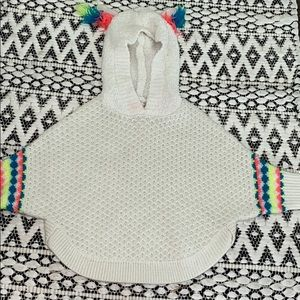 Baby girl pancho/ pull over